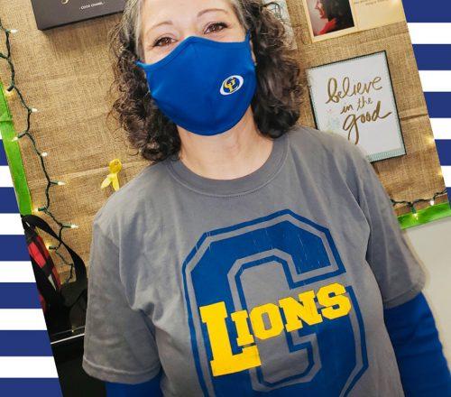 Custom Mask and T-Shirt - Gahanna Lions